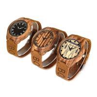 BOBOBIRD® Unisex Uhr, PU Leder, mit Zifferblatt aus Holz & Glas & Edelstahl, einstellbar & verschiedene Muster für Wahl, originale Farbe, 45.5mm, 21.5mm, Länge:ca. 8 ZollInch, verkauft von PC