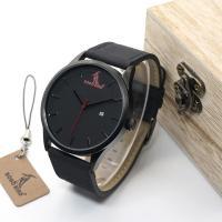 BOBOBIRD® Unisex Uhr, PU Leder, mit Glas & Edelstahl, plattiert, mit Einzelkalender & einstellbar, 45mm, 24mm, Länge:ca. 6.5-8.5 ZollInch, verkauft von PC
