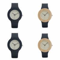 BOBOBIRD® Unisex Uhr, PU Leder, mit Zifferblatt aus Holz & Glas & Edelstahl, einstellbar, keine, 42mm, 19mm, Länge:ca. 8.5 ZollInch, verkauft von PC