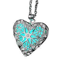 Messing Halskette, mit Fluoreszierende Pulver Stein, versilbert, verschiedene Verpackungs Art für Wahl & Oval-Kette & verschiedene Stile für Wahl & für Frau & glänzend, verkauft per ca. 18 ZollInch Strang