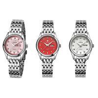 WWOOR® Collection Uhr, Edelstahl, mit Titan Legierung & Glas & Zinklegierung, plattiert, für Frau & mit Strass, keine, 29x11mm, Länge:ca. 8 ZollInch, verkauft von PC