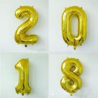 Ballone, Alufolie, Zahl, verschiedene Stile für Wahl, Goldfarbe, 165mm, verkauft von PC