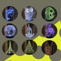 Nachtlampe, Acryl, mit ABS Kunststoff, automatisch die Farbe wechseln & verschiedene Stile für Wahl, 100x100x40mm, verkauft von PC