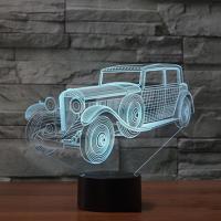 Nacht LED-Licht neben 3D-Lampe, Acryl, mit ABS Kunststoff, automatisch die Farbe wechseln & verschiedene Stile für Wahl, verkauft von PC