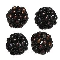 Ball Cluster Zuchtperlen, Natürliche kultivierte Süßwasserperlen, rund, 17mm, verkauft von PC