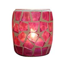 Glas Kerzenhalter, verschiedene Muster für Wahl, 63x68mm, verkauft von PC