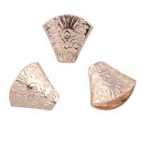 Verkupferter Kunststoff Perlenkappen, Blume, Rósegold-Farbe plattiert, 20x18x11mm, Bohrung:ca. 1mm, 10PCs/Tasche, verkauft von Tasche