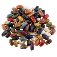 Glasierte Porzellan Perlen, Trommel, glaciert, keine, 15x7mm, Bohrung:ca. 1mm, 100PCs/Tasche, verkauft von Tasche