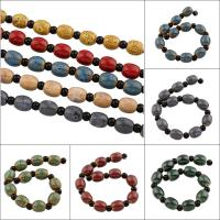 Glasierte Porzellan Perlen, glaciert, keine, 10x13mm, 10PCs/Strang, 10SträngeStrang/Tasche, verkauft per ca. 7 ZollInch Strang