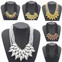 Acryl Halskette, Zinklegierung, mit Acryl, mit Verlängerungskettchen von 5cm, plattiert, mit Bemaltung & für Frau, keine, frei von Blei & Kadmium, 490mm, verkauft per ca. 19 ZollInch Strang