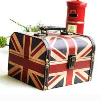 Ablagekasten, Holz, mit PU Leder, Nationalflagge Design & verschiedene Muster für Wahl, 180x140x120mm, 2PCs/Menge, verkauft von Menge