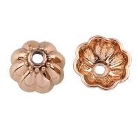 Zinklegierung Perlenkappe, Blume, echtes Rósegold plattiert, frei von Blei & Kadmium, 17x8mm, Bohrung:ca. 2.5mm, 20PCs/Tasche, verkauft von Tasche
