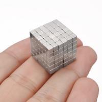 Magnetische Kugeln, Eisen, Würfel, silberfarben plattiert, mit Magnet & verschiedene Größen vorhanden, 216PCs/setzen, verkauft von setzen