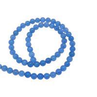 Natürliche blaue Achat Perlen, Blauer Achat, rund, 12mm, ca. 32PCs/Strang, verkauft per ca. 15.5 ZollInch Strang