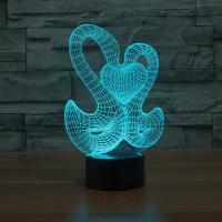 Nacht LED-Licht neben 3D-Lampe, ABS Kunststoff, mit Acryl, Schwan, automatisch die Farbe wechseln & verschiedene Stile für Wahl, 142x87x229mm, verkauft von setzen