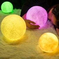 Nachtlampe, Kunststoff, mit Holz, automatisch die Farbe wechseln & verschiedene Stile für Wahl, verkauft von PC
