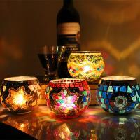 Glas Kerzenhalter, verschiedene Stile für Wahl, 75x85mm, verkauft von PC