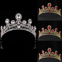 Zinklegierung Tiaras, mit Kristall, Krone, plattiert, für Braut & facettierte & mit Strass, keine, frei von Blei & Kadmium, 60mm, verkauft von PC
