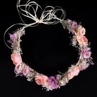 Seidenspinnerei Haarkranz, mit PE Schaumstoff, Blume, handgemacht, für Frau, 50x500mm, verkauft von PC