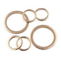 Zinklegierung Biegering, Kreisring, goldfarben plattiert, verschiedene Größen vorhanden, frei von Blei & Kadmium, verkauft von PC