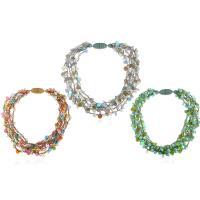 Kunststoff Halskette, mit Metallische Schnur & Kristall, für Frau, keine, 30mm, 60mm, verkauft per ca. 20 ZollInch Strang