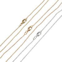Messingkette Halskette, Messing, plattiert, unisex, keine, 1.20mm, Länge:ca. 19.5 ZollInch, 50SträngeStrang/Menge, verkauft von Menge