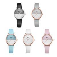 MEIBIN® Damen Schmuck Uhren, PU Leder, mit Glas & Edelstahl, plattiert, für Frau, keine, 28x9mm, Länge:ca. 7.5 ZollInch, verkauft von PC