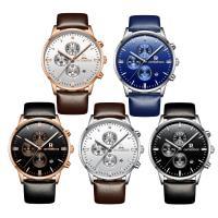 ONTHEEDGE®-Männer-Schmuck-Uhren, Kuhhaut, mit Zinklegierung Zifferblatt & Glas, plattiert, 30 m wasserdicht & einstellbar & für den Menschen, keine, 42x10mm, 22mm, Länge:ca. 9.8 ZollInch, verkauft von PC