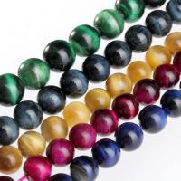 Tigerauge Perlen, rund, poliert, keine, 12mm, 33PCs/Strang, verkauft per ca. 15.5 ZollInch Strang