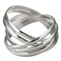 Edelstahl -Armband -Set, für Frau, originale Farbe, 6mm, Innendurchmesser:ca. 68mm, 7PCs/setzen, verkauft von setzen