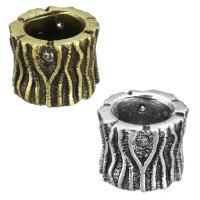 Zirkonia Micro Pave Messing Europa Bead, Zylinder, plattiert, Micro pave Zirkonia & ohne troll, keine, 8x6mm, Bohrung:ca. 4.5mm, 20PCs/Menge, verkauft von Menge