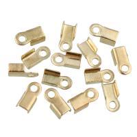 Eisen Endkappe, goldfarben plattiert, verschiedene Größen vorhanden, frei von Blei & Kadmium, 10000PCs/Tasche, verkauft von Tasche