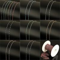 Edelstahl Kette, mit Kunststoffspule & Harz, Oval-Kette, keine, 4.5x2x2mm, 2x1.5x0.5mm, 10m/Spule, verkauft von Spule