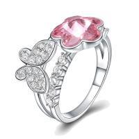 comeon® Finger-Ring, 925 Sterling Silber, mit CRYSTALLIZED™, platiniert, verschiedene Größen vorhanden & Micro pave Zirkonia & für Frau, 11mm, verkauft von PC