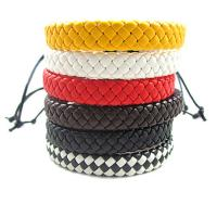 Mode Wachsschnur Armbänder, Kuhhaut, mit Gewachsten Baumwollkordel, geflochten & unisex & einstellbar, keine, Länge:7-9 ZollInch, 10SträngeStrang/Menge, verkauft von Menge
