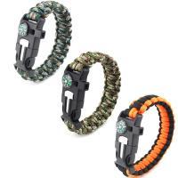 Polyester Survival Armband, Kunststoff Folie Release Schnalle, unisex, keine, Länge:ca. 9 ZollInch, 3SträngeStrang/Tasche, verkauft von Tasche