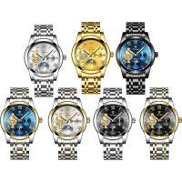 TEVISE® Uhrenkollektion, Edelstahl, mit Zinklegierung Zifferblatt & Glas, plattiert, stem-Winder & für den Menschen & wasserdicht, keine, 38x15mm, Länge:ca. 7.8 ZollInch, verkauft von PC