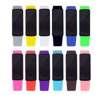 Silikon Armbanduhr, mit Kunststoff, für Kinder & LED, keine, 50x17mm, Länge:ca. 9 ZollInch, verkauft von PC