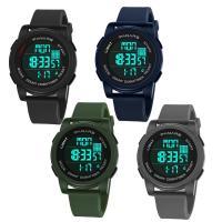 PANARS® Uhrenkollektion, Silikon, mit Kunststoff & Zinklegierung, plattiert, einstellbar & LED & für den Menschen & wasserdicht & glänzend, keine, 50x22.5x17mm, Länge:ca. 10.4 ZollInch, verkauft von PC