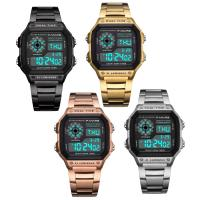 PANARS® Uhrenkollektion, Edelstahl, mit Kunststoff & Zinklegierung, plattiert, LED & für den Menschen & wasserdicht, keine, 44x13.2mm, 24.3mm, Länge:ca. 9.7 ZollInch, verkauft von PC
