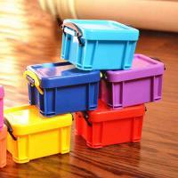 Ablagekasten, Kunststoff, gemischte Farben, 80x65x50mm, 10PCs/Menge, verkauft von Menge