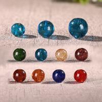 Goldsand Lampwork Perlen, rund, handgemacht, verschiedene Größen vorhanden, keine, Bohrung:ca. 1mm, 100PCs/Menge, verkauft von Menge