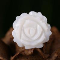 Natürliche weiße Muschelperlen, Blume, Handpoliert, 3x16mm, verkauft von PC