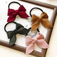 Draht Bun -Bogen, Gummiband, mit Stoff, Schleife, handgemacht, elastisch & für Frau, keine, 50-60mm, 10PCs/Tasche, verkauft von Tasche