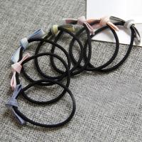 Draht Bun -Bogen, Gummiband, mit Stoff, Schleife, handgemacht, elastisch & für Frau, gemischte Farben, 50-60mm, 10PCs/Tasche, verkauft von Tasche