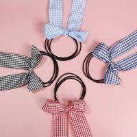 Draht Bun -Bogen, Gummiband, mit Stoff & Acryl, Schleife, handgemacht, elastisch & für Frau, keine, 50-60mm, 10PCs/Tasche, verkauft von Tasche