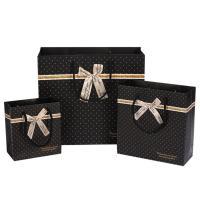 Mode Geschenkbeutel, Papier, mit Satinband, verschiedene Größen vorhanden, schwarz, 20PCs/Menge, verkauft von Menge