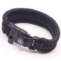 Überleben Armbänder, Terylen Schnur, mit Kompass & unisex, keine, 25mm, Länge:ca. 9 ZollInch, 5SträngeStrang/Menge, verkauft von Menge