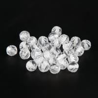Transparente Acryl-Perlen, Acryl, Blume, weiß, 8mm, Bohrung:ca. 3-4mm, 100PCs/Tasche, verkauft von Tasche
