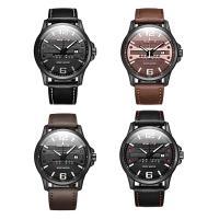 RISTOS® Uhrenkollektion, PU Leder, mit Glas & Edelstahl, schwärzen, einstellbar & für den Menschen & glänzend, keine, 42x12mm, Länge:ca. 10 ZollInch, verkauft von PC